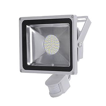 10 pcs projecteur smd smd led 50w spot lampe avec d tecteur de de mouvement en blanc froid. Black Bedroom Furniture Sets. Home Design Ideas