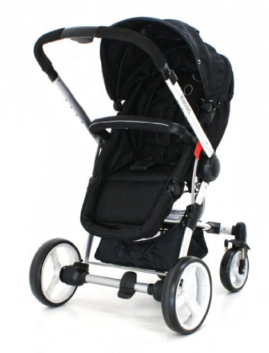 Petite Star Kurvi Klassic 3 in 1 Pushchair Travel system [pram, forward, & rear facing] includes Raincover & Carseat