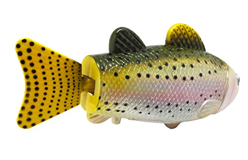 Rainbow trout realistic swimming fish water pool bath for Battery operated fish