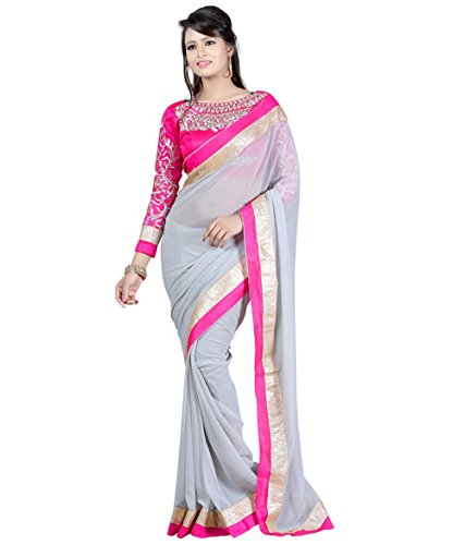 Jhalak Chiffon Saree With Diamond Work On Blouse