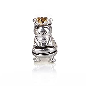 Bling Jewelry Queen Bee 925 Sterling Silver Animal Bead Pandora Chamilia Troll Charms Compatible
