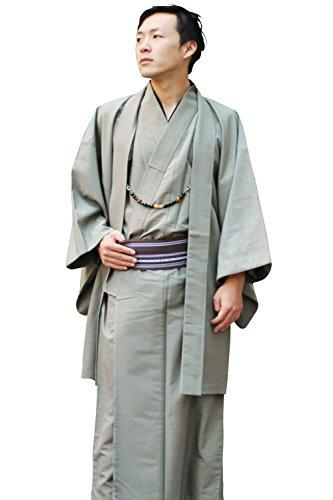 男性用 洗える 着物8点豪華フルセット 福袋 (着物+羽織+長襦袢