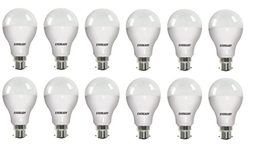 12W B22D LED Bulb (Cool Day Light, Pack of 12)