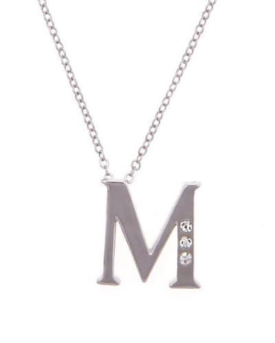 MUSAVENTURA Collar  Alphabet M Plata