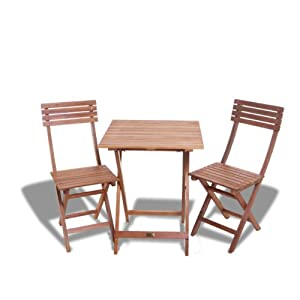 BillyOh Windsor 2 Seater Garden Funiture Bistro Set (Bistro Set with Square Table)
