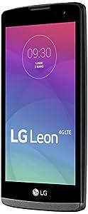 LG Leon 4G Smartphone débloqué 4G (8 Go - Ecran : 4,5 pouces - Simple SIM - Android 5.0 Lollipop) Titane