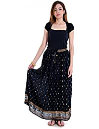 Shop Hatke Now Latest 2017 Jaipuri Gold Print Regular Fit Women's Skirt 108