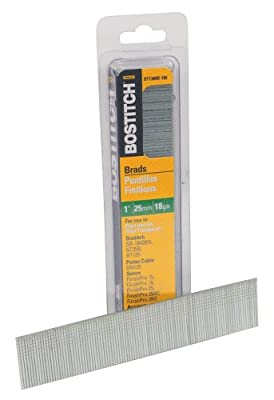 BOSTITCH BT1309B-1M 1-Inch 18-Gauge Brads, 1000 per Box