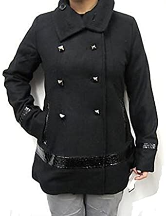 Baby Phat Wool Winter Coat in black (Large), 1043BP at