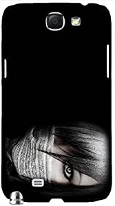 Attractive 3D multicolor printed protective REBEL mobile back cover for Samsung Note-2 - D.No-DEZ-2434-n2