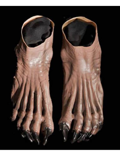 Costume-Accessory Werewolf Feet Brown Halloween Costume Item - 1 size