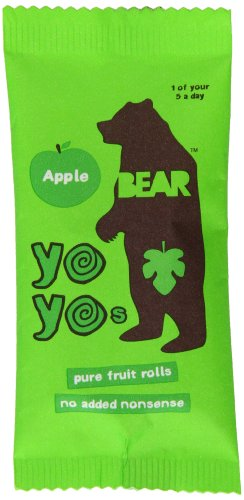 Bear Yoyo 100 Percent Fruit Rolls Apple 20 g (Pack of 18)