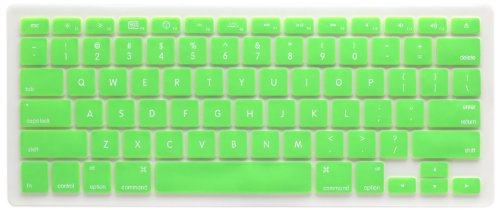 Silicone Keyboard Cover Green for Macbook and Macbook Pro