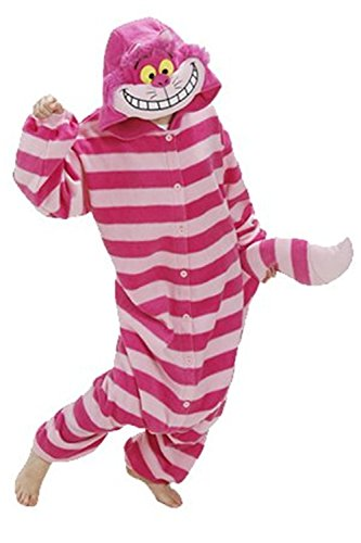 Women Men Cheshire Cat Unisex Adult Animal Sleep Suit Cosplay Kigurumi Costume Pajamas Outfit Costume Nightclothes Onesies Clothing Pajamas Tracksuit