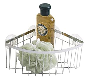 Home basics corner caddy with suction cups shower caddies - The basics about shower caddies ...