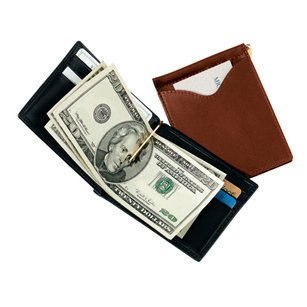 Royce Leather Men's Cash Clip Wallet (Black)