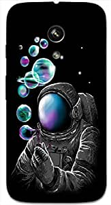Timpax Protective Hard Back Case Cover With access to all controls and ports Printed Design : A astronaut and bubbles.Compatible with Motorola Moto-G ( 1st Gen )