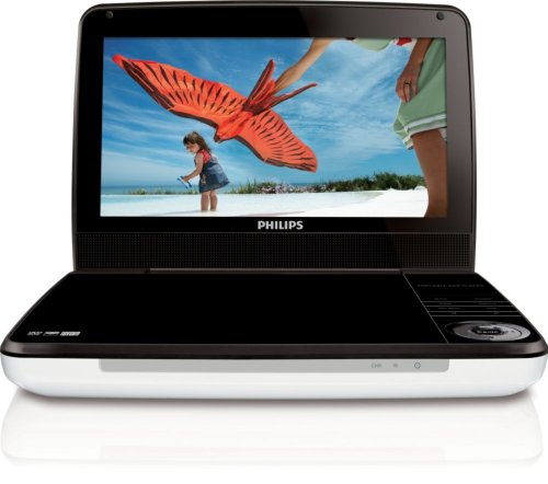 Best Review Of Philips PD9000/37 9-Inch LCD Portable DVD Player with 5 Hour Battery, White