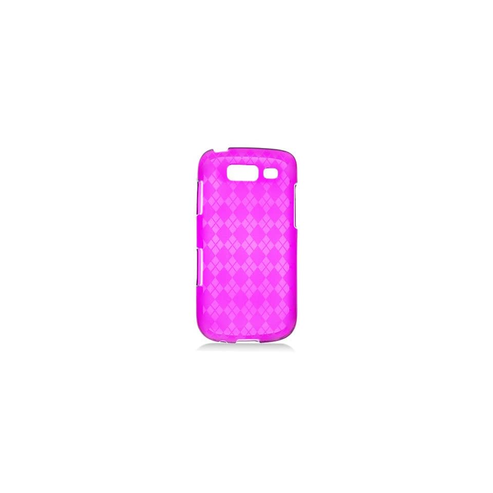 HHI Samsung SGH T769 Galaxy S Blaze 4G TPU Rubber Skin Case with Inner Check Design   Purple (Package include a HandHelditems Sketch Stylus Pen)