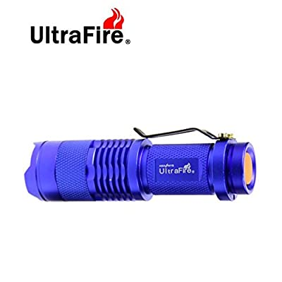UltraFire?7W 300LM Mini CREE LED Flashlight Torch Adjustable Focus Zoom Light Lamp