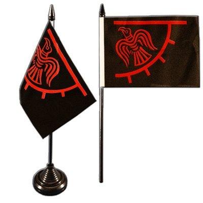 Tischflagge-Tischfahne-Wikinger-Odinicraven-gratis-Aufkleber-Flaggenfritze