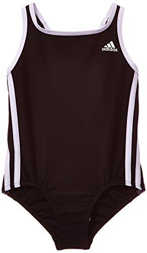 Adidas, Costume da bagno intero Bambina Infinitex, Nero (Black/White), 164 cm