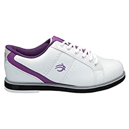 BSI Womens Sport Leather Bowling Shoes (6 1/2 M US, White/Purple)