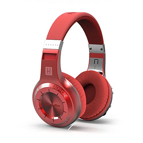 Flyingus Couple Wireless Bluetooth Headsets Sweatband High Quality HD High Power Surround Sound System Turbine Powered Headset Adapter Headphones 3.5mm Audio Cable+Audio Cable(Red)