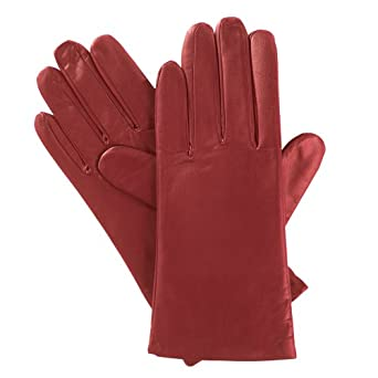Isotoner Women's Thinsulate Lined Smooth Leather Gloves - Red - Size 8