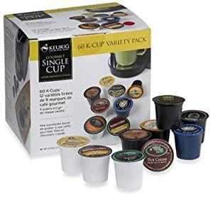 Amazon.com : K-Cup Coffee for Keurig Brewers, Flavored Coffee Variety Pack, 60-Count, Bundled ...