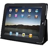 Daffodil IPC850 Funda para Apple iPad - Funda de Cuero con Soporte flexible - Color Negro