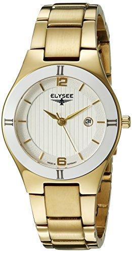ELYSEE Myra Femme 31mm Bracelet Acier Inoxydable Boitier Acier Inoxydable Plaqué Or Quartz Montre 33044