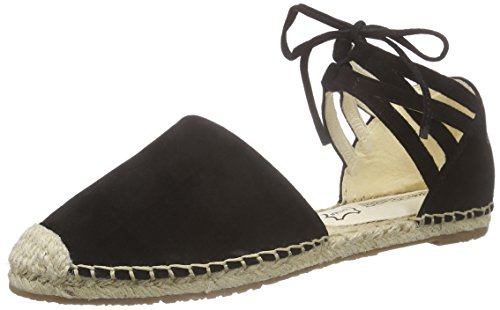 Buffalo London215-4278 KID SUEDE - Espadrillas Donna , Nero (nero (black 01)), 38