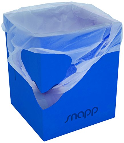 Snappy Bin - Cestino pieghevole portatile, colore: blu