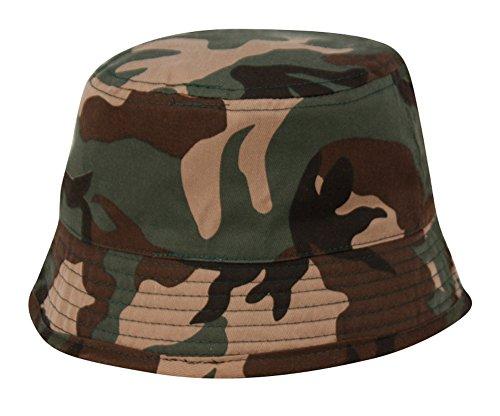 Unisex Indoor/Outdoor Kids Camo Bucket Hat (6-9 Years) (Camo Rain Boats compare prices)