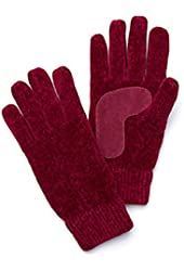 Isotoner Womens Burgundy Rayon Chenille Knit Gloves Thinsulate Lined