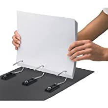 Find It Heavy Duty Flat Binder, 5 Inches, Non-View, Black (FT07095)
