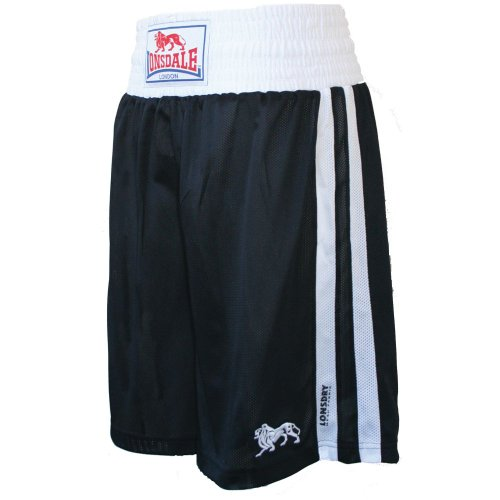 Lonsdale Club Boxing Trunks, Size- Youths, Color- Black
