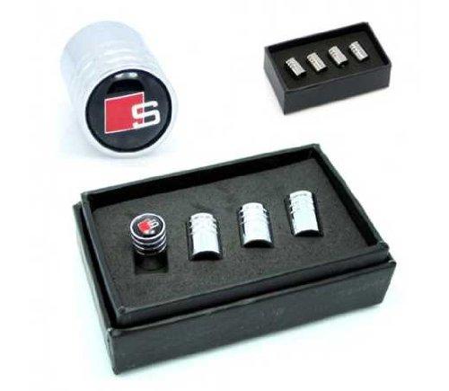 Audi Sline Car Wheel Tire Valve Stem Caps(black) image