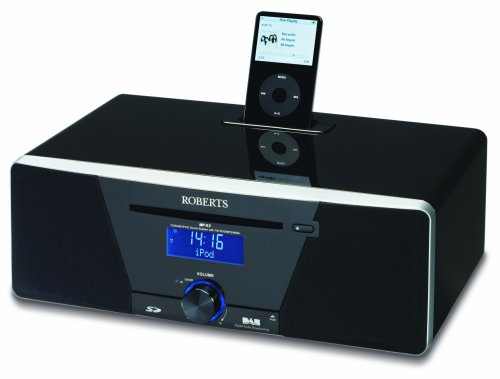 Roberts MP53 Sound 53 CD/DAB/FM Digital Sound System with Dock for iPod-Black