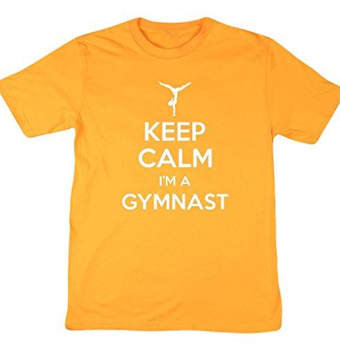HippoWarehouse-Keep-calm-I-m-un-gimnasta-gimnasia-Unisex-Corto-Manga-Camiseta-amarillo-dorado-XX-Large