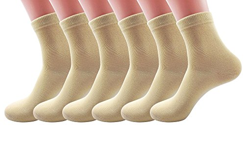 Silkworld Women'S Cotton Solid Color Ankle Socks Pack Of 6 Light Yellow