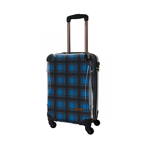 CARART(キャラート) アート スーツケース ベーシック カラーチェックモダン (ブルー3) ジッパー4輪 機内持込 CRA02-023C