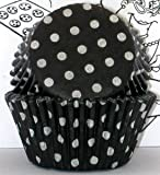 Goldas Kitchen Baking Cups - Polka Dot - Black