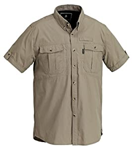Pinewood Botswana Chemise à manches courtes pour homme Beige Sandstone grand