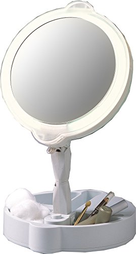 Home Travel 9x 1x Folding Lighted Cosmetic Mirror