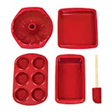 Buy bakeware sets for Cheap bakeware sets Silicone Solutions 5 Piece Basic Baking Set Burgundy Kitchen bakeware sets