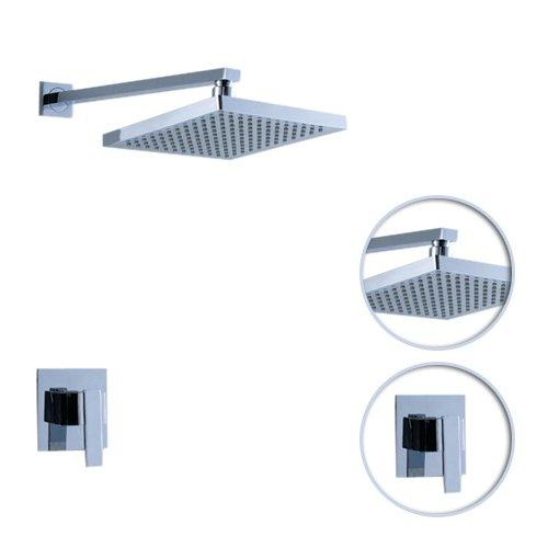 lightinthebox chrome wall mount rainfall single handle shower faucet 0758 hm 6109 bella brewer7777. Black Bedroom Furniture Sets. Home Design Ideas