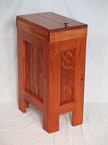 Wood Wooden Trash Bin Kitchen Garbage Can 13 Gallon , Recycle Bin, Dog Food Storage Gun Stock Stain Rustic Pine Handmade in USA By Buffalowoodshop (Kitchen Wood Trash Bin compare prices)