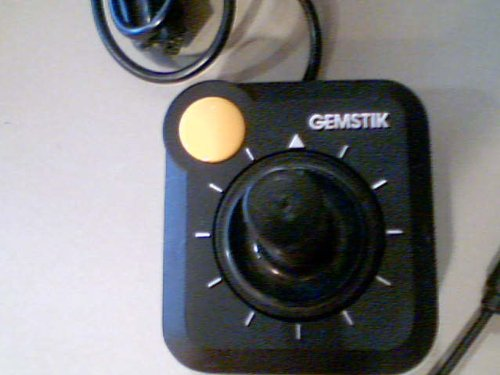 Gemstik Video Game Joystick Wired Controller for Atari 2600 Video Game (Yellow Button/silver Lettering/black Body Version)(atari 2600 Version) Made in Taiwan